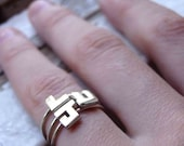 THREE Stackable Initial Ring / initial name ring, capital letters, small letter, personalized ring, letter ring, alphabet ring