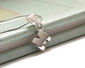 Initial Necklaces, Personalized jewelry, Sterling silver, Made to order, Custom Letter