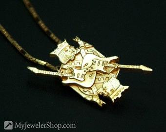 King of Rock Pendant Brass