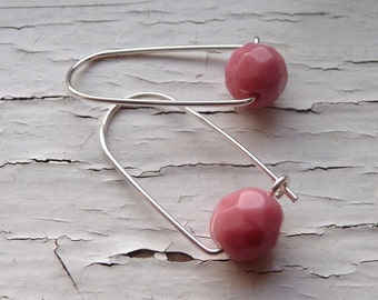 pink box earrings