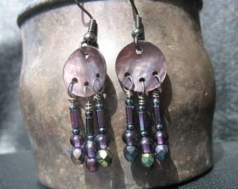 Midnight Fantasy Chandelier Earrings