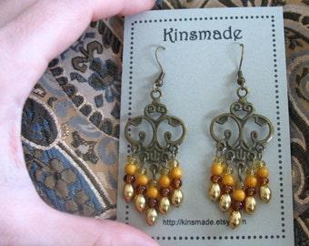 Amber Meadow Chandelier Earrings