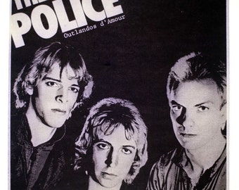 Vintage THE POLICE - the band - Iron On Transfer