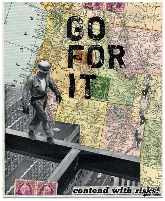 ARTWORK. Go for It. 100 Percent Recycled MapArt