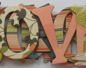 """Olivia Designer Alphabets, Chipboard Letters,  Floral Alphabet Die Cuts, Scrapbook Diecuts, 1.5"""" inches, {Choose Uppercase or Lowercase}"""