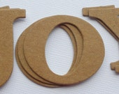 6 JOY --- Title Word Phrase Raw Bare Unfinished Chipboard Die Cuts
