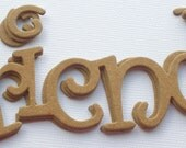FRIENDS -- Title Word Phrase  Raw Bare Unfinished Chipboard Die Cuts