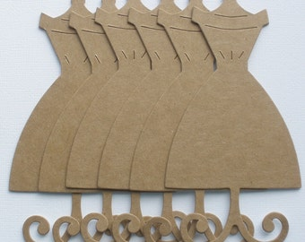 DRESS FORM - Mannequin  Forms Vintage Raw Bare Unfinished Chipboard Die Cut