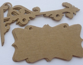 """HANGING SiGNS - Chipboard Die Cuts - Vintage French Shop Sign -  Bare Diecuts - 4 3/4"""" x 5"""""""