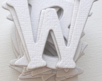 """WHiTE -  Chipboard Alphabet Letters diecuts - 1.5"""" tall"""