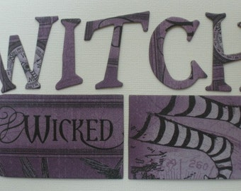 WiCKED WiTCH - Letters -  Magic of Oz Chipboard Alphabets, Tags and Ornate Note Die Cuts  -  1.5""