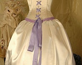 Alice - in Lavender, knee length satin wedding dress