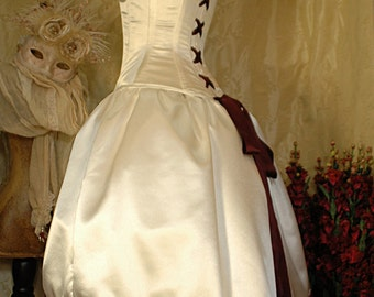 Juliet custom made cadbury purple bridal gown with steel for Steel boned corset wedding dress