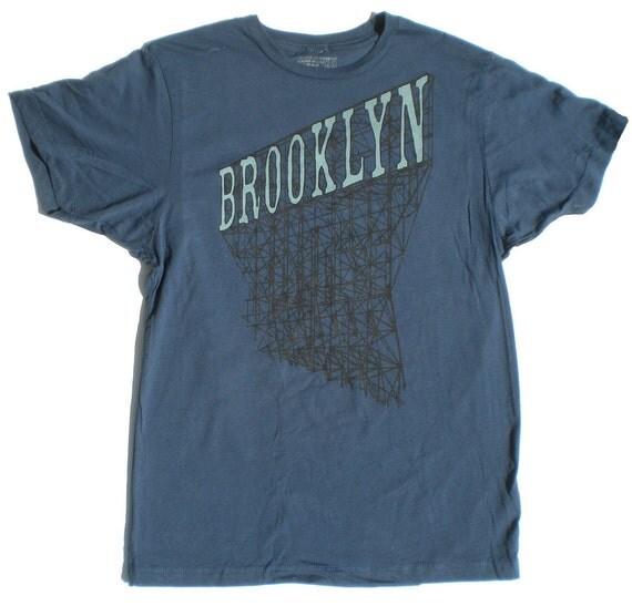 Mens brooklyn t shirt in navy blue for T shirt printing brooklyn