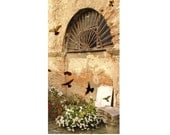 Rustic Italy Photograph Garden Spirits Italian Architecture Travel Florence Birds Doves Flowers Nature Landscape