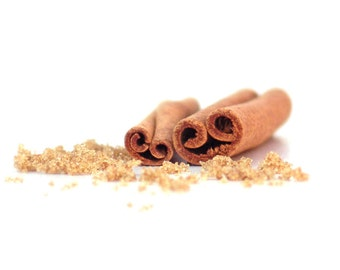Food Photograph Cinnamon Sugar Baking Spice Kitchen Brown Warm Ivory Yellow Still Life
