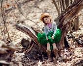 Dreamspun Pettiskirt - Green - You Pick Size Petti Skirt Perfect for Portraits