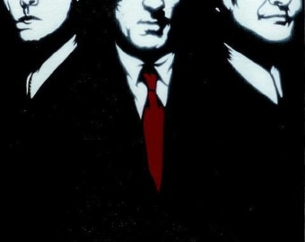 8.5x11 GoodFellas (Ray Liotta, Robert De Niro, Joe Pesci) Stencil Art Print
