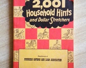 Vtge 1957 2,001 Household Hints and Dollar Stretchers Book