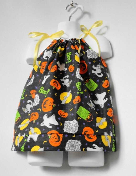 Halloween Costume for Baby. Halloween Pillowcase Dress. Baby Halloween. Girl Halloween Dress. Girls Pillowcase Dress. Newborn to 3T.