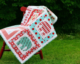 BABY ELEPHANT QUILT Pattern (pdf) - Cirque d'Elephant by Sew Much Ado
