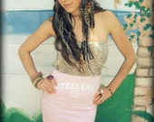 LOVE Hippie NFL STEELERS Cheetah Pj Tube Top Mini Dress