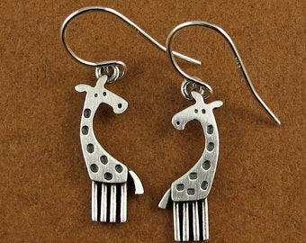 Tiny giraffe earrings