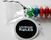 Lacrosse Rules Candy Treat Bag Favors, Set of 12, Black, White