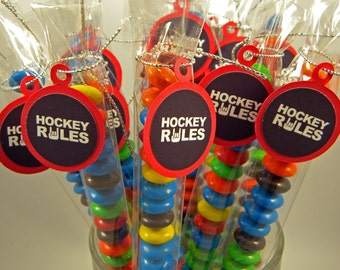 Hockey Rules  - Candy Treat Bag Favors Set of 12