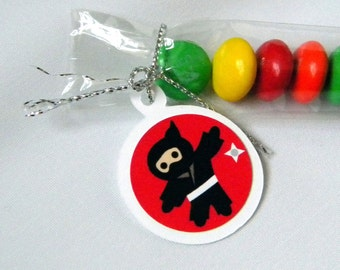 Ninja Party Favors, Candy Treat Bags, Assorted Set of 12, Sports, Birthdays, Baby Shower