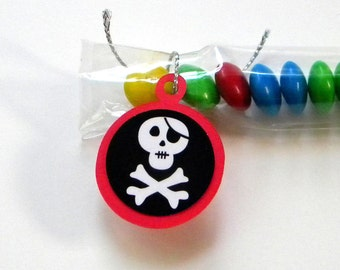 Skull and Crossbones - Candy Treat Bags, Set of 12