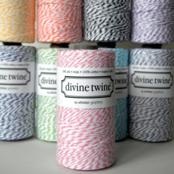 Pink Baker's Twine, Divine, 240 Yards, 720 Feet, Cotton Candy