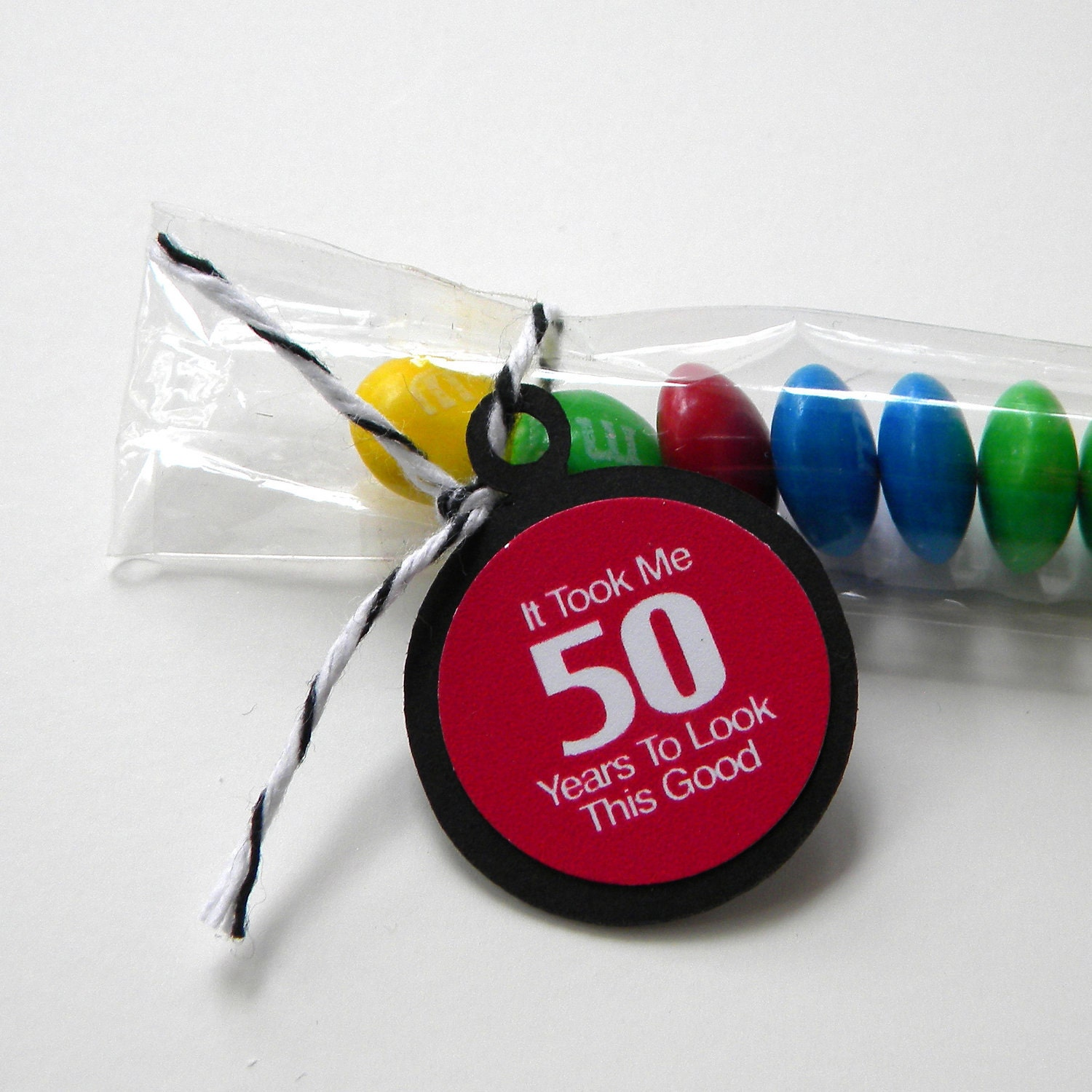 50th Birthday Candy Treat Bag Favors It Took Me 50 Years To