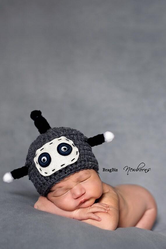 Baby Hat, Robot Hat, Baby Photo Prop, Newborn Baby Hat, Newborn Photo Prop, Photography Prop