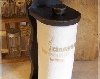 Colonial Paper Towel Holder / Heart Design / Primitive Kitchen or Bathroom / Lamp Black / Color Choice
