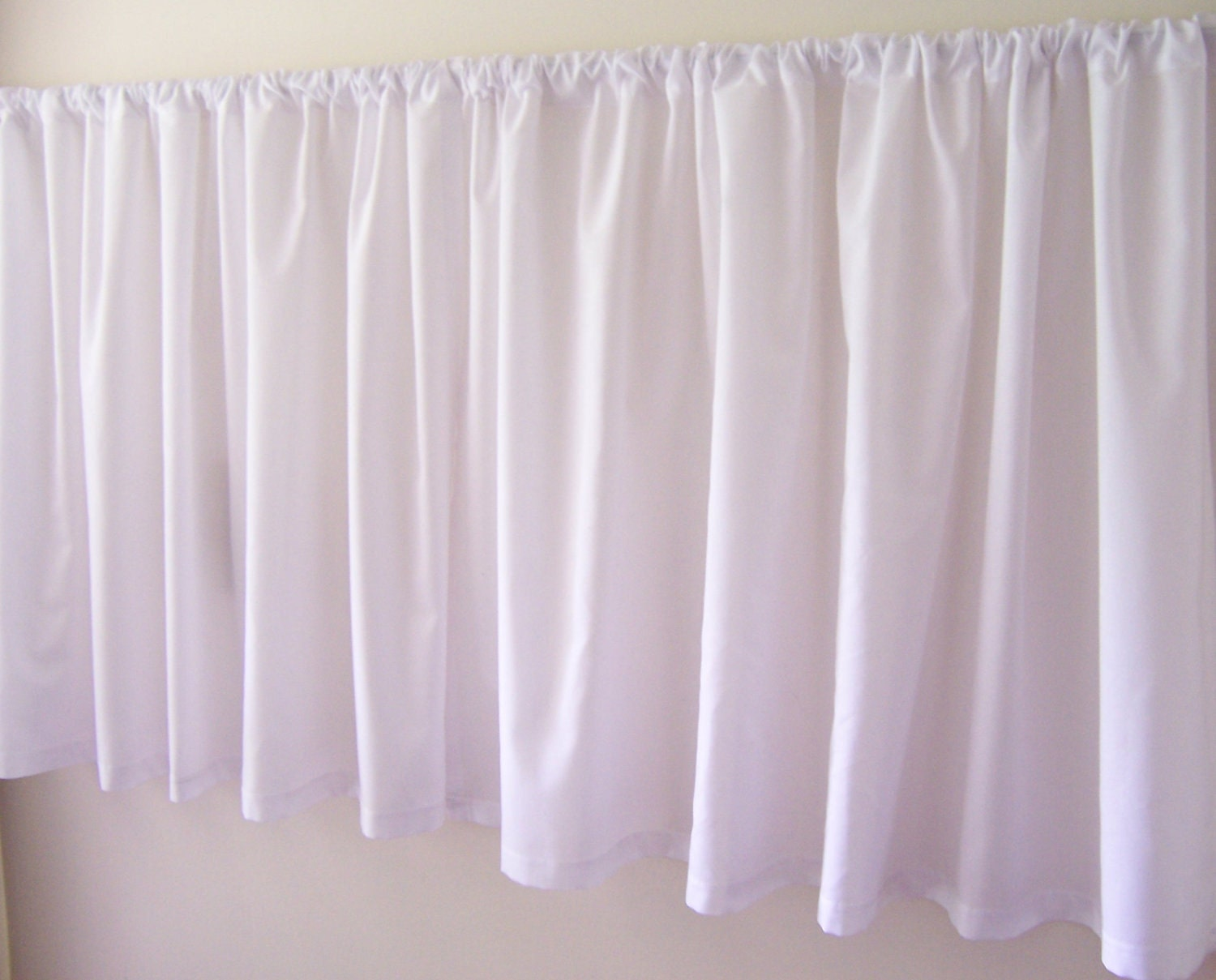 Cafe Curtains White Plain by treadlesandpedals on Etsy