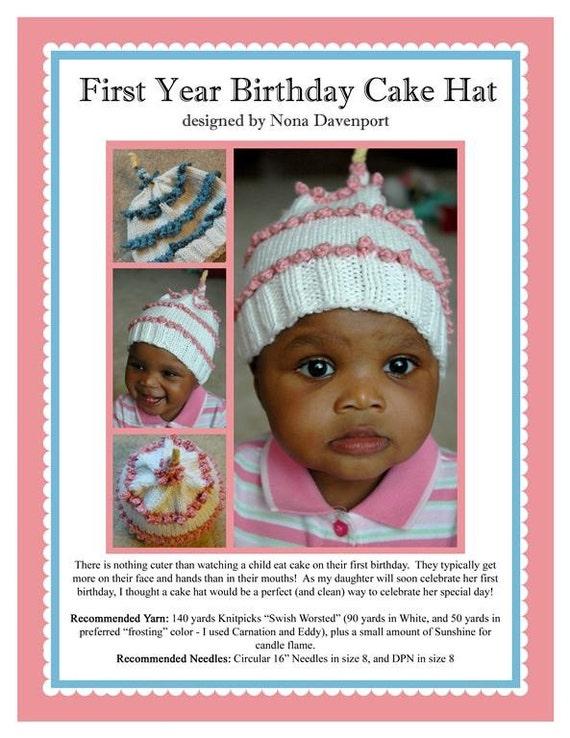 First Birthday Cake Hat Pattern PDF
