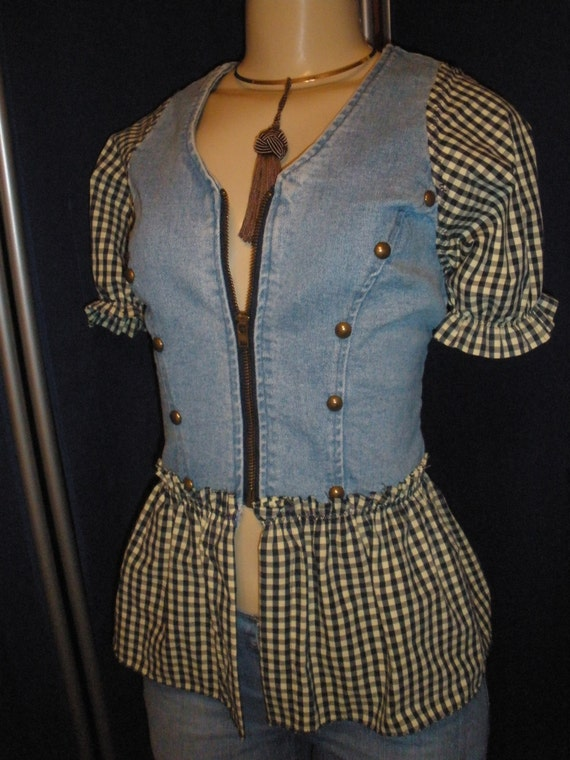 Darling Little Vintage Vest, Recreated, Renewed, and Reconstructed,   Size L