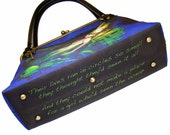 Customize your purse, tote or MINI tote. Add a quote or text of your choice to the bottom of your handbag.