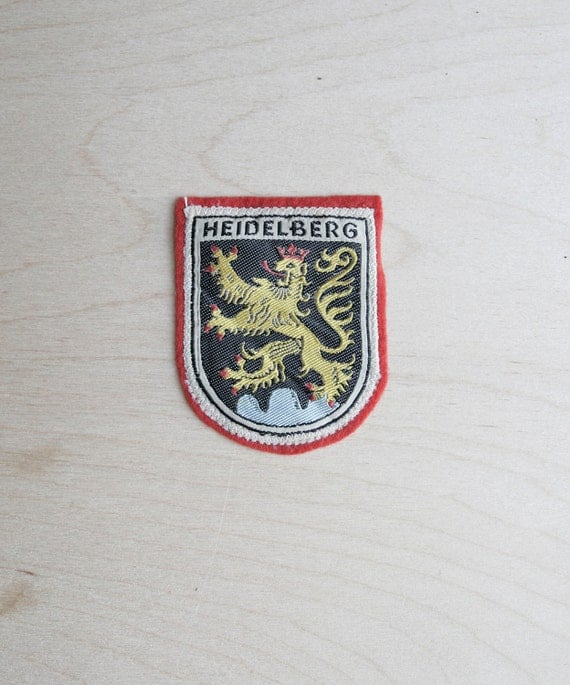 vintage patch / Heidelberg lion