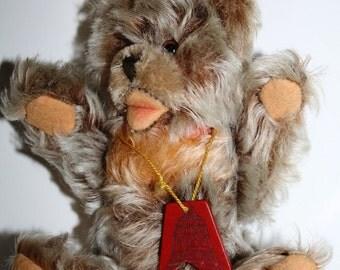 Sale, 1950  Steiff  F.A.O. SCHWARZ, Zotty Bear, press voice, SCHWARZ wood Tag, cedar keepsake box,fao Schwarz Wood Tag, mad men era toy