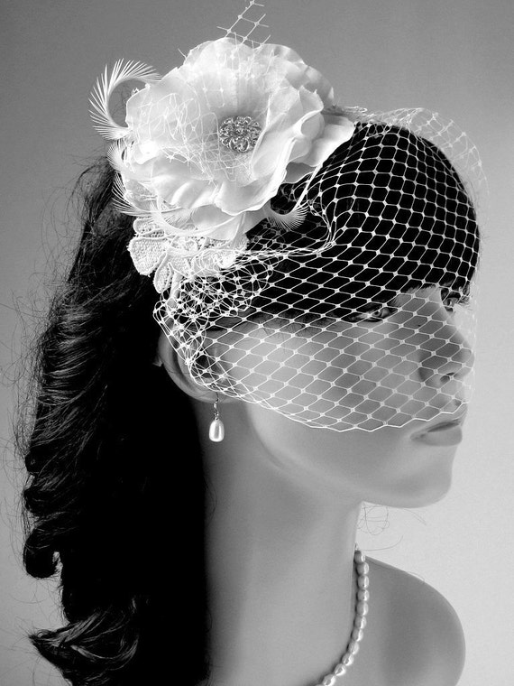 Bridal Birdcage Veil Wedding Hair Accessories Bridal Birdcage