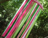 Ribbon Mobile Pink and Green
