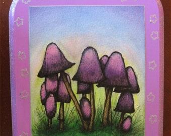 glitter mushrooms