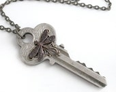 Wings of Fancy - Recycled Key Necklace Jewelry