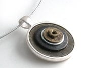 Industrial Waste Necklace - Cyber Techno Geek Handmade Jewelry Pendant