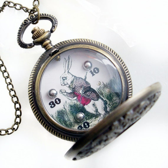 Late Again... Hand Held Dexterity Game in Pocket Watch case - Pendant Jewelry Necklace
