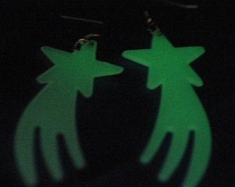 Glowing Falling Star Earrings