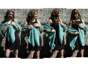 SALE- Teal Shawl / Scarf Shrug