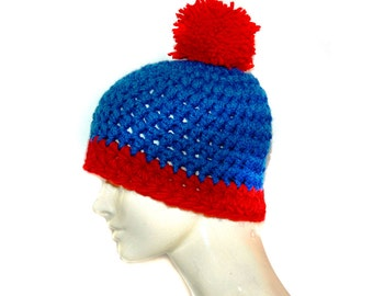 Stan Marsh  Blue and Red POm POm Hat